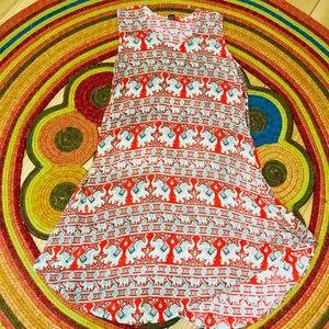 🐘Elephant Midi Dress, from India🐘